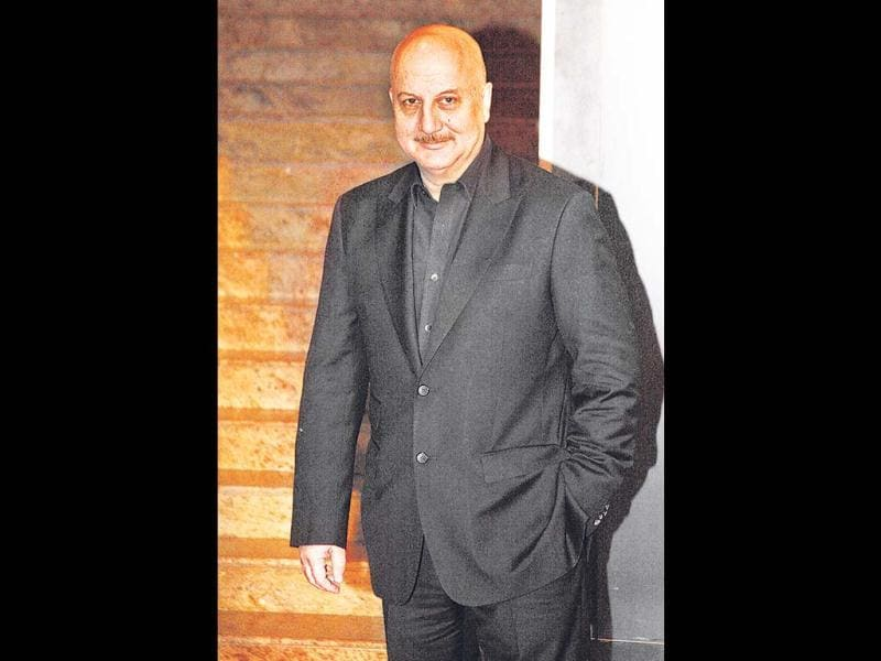 Yes! he's an oldie and will not literally set style trends for the youth. Anupam Kher, nonetheless looks wonderfully calm and handsome at the Colors fourth anniversary celebrations at Hyatt in Mumbai on Friday night.