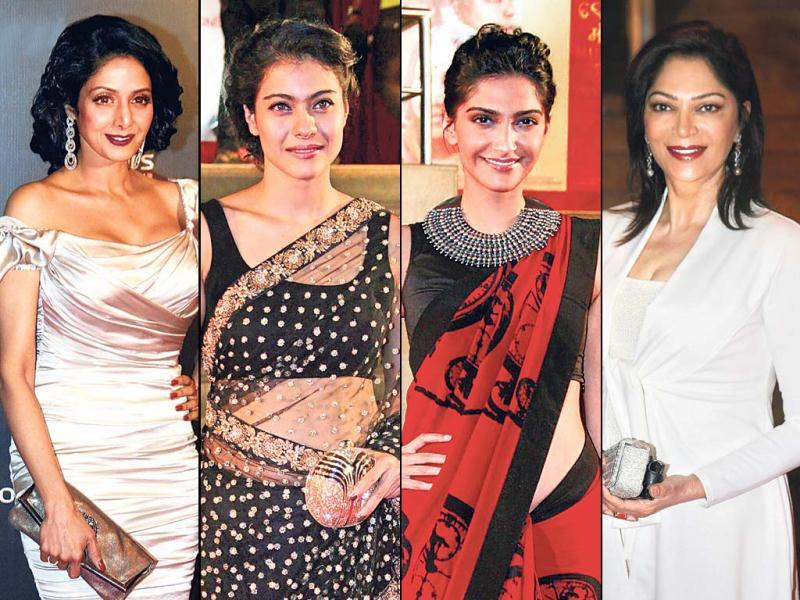 This weekend was Bollywood celebrities partied hard with Colors Anniversary celebrations on Friday and the premiere of Mai, Asha Bhonsle's acting debut, on Thursday. From Sridevi to Simi Graewal to Sonam Kapoor - all of them looked stunning and beautiful.