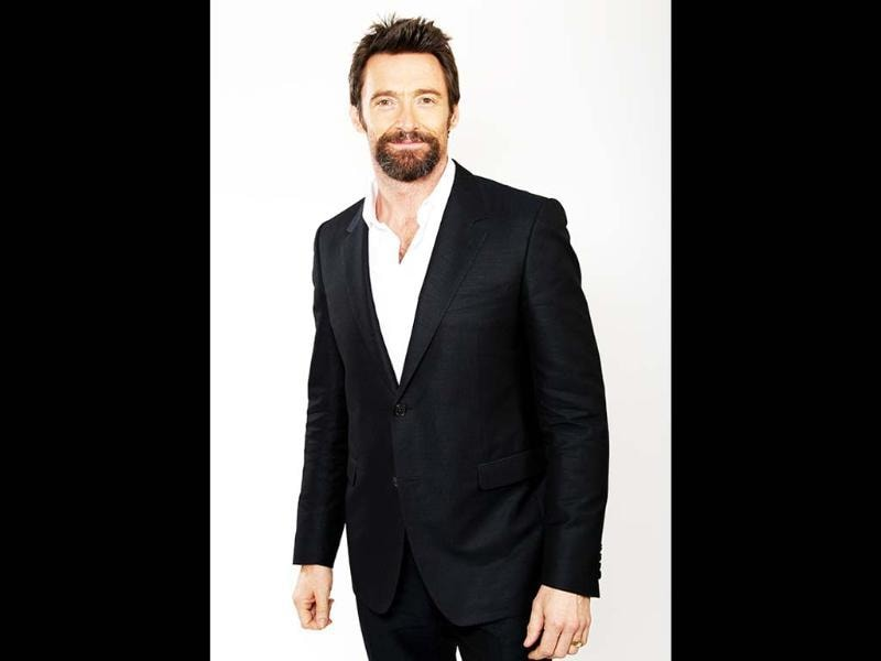 Oscar nominee Hugh Jackman poses for a portrait at the 2013 Oscar Nominee Luncheon in Los Angeles. AP