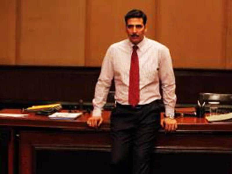 Akshay Kumar in a still from Special Chabbis. The movie releases on February 8.