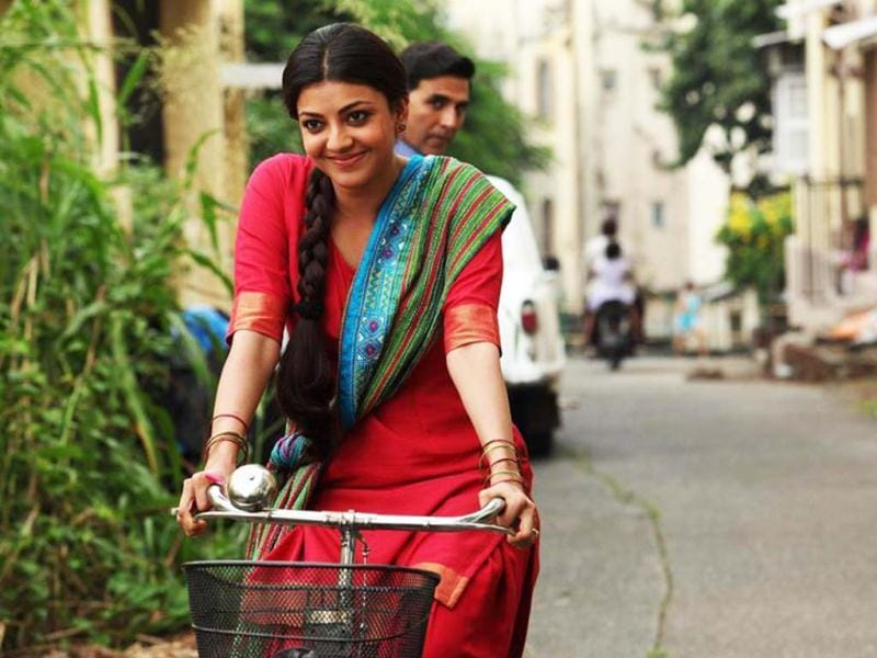 Kajal Aggarwal and Akshay Kumar in a still from their movie Special Chabbis slated for release on Friday.