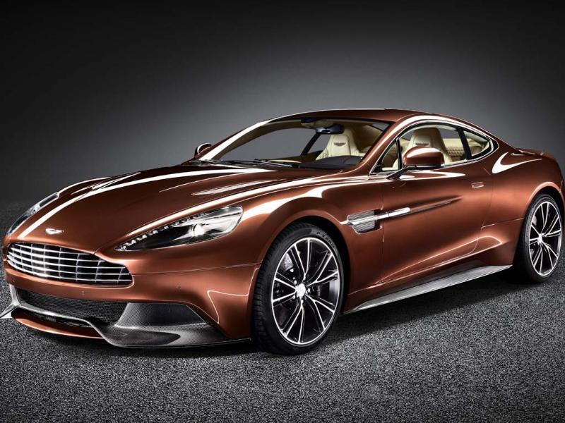 The new Aston Martin Vanquish:Not quite the fastest car in the list, going from 0-62mph (100kph) in 4.1 seconds and onto a top speed of 183mph (294 kph), but its 6-litre V12 delivers power smoothly, makes a beautiful sound and is housed inside one of the best-looking bodies Aston Martin has produced in its 100-year history. Price: $300,500. Photo:AFP