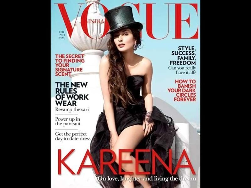 Kareena Kapoor launched her first book, The Style Diary Of A Bollywood Diva, at an event on Wednesday. She features on the covers of Vogue magazine in the image. Kareena Kapoor looks hot in her first photo shoot after marriage.