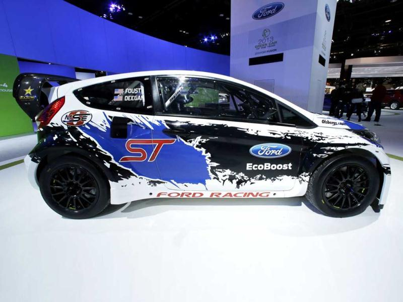 A Ford Fiesta ST is on display during the media preview of the Chicago Auto Show at McCormick Place in Chicago. (AP photo)