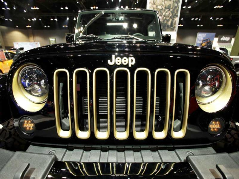 A Jeep Wrangler is on display during the media preview of the Chicago Auto Show at McCormick Place in Chicago. (AP photo)