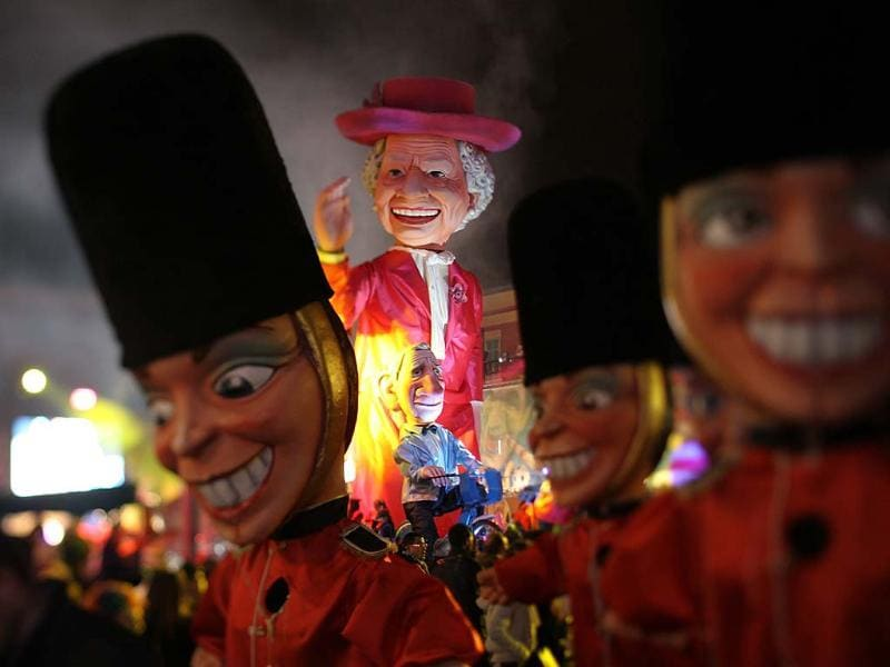"This year, 18 floats and 1,000 musicians and dancers from around the world will entertain the masses along the French Riviera to the overall theme of ""King of the Five Continents,"" which will give the seat of honor to the French-speaking world. Other perennial highlights for the French version of Carnival are the Flower Parades and the Parade of Lights. Photo: AFP / Valery Hache"