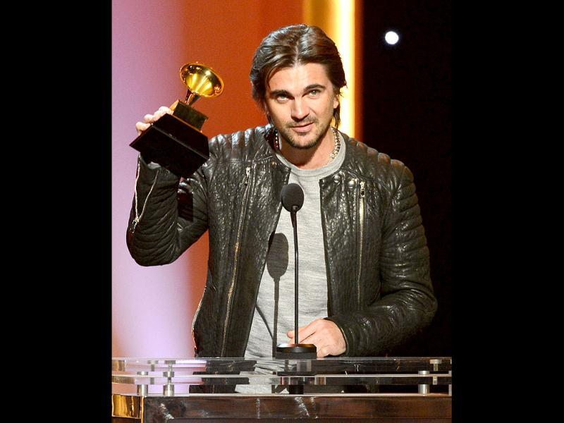 Juanes won the award for best Latin pop album for MTV Unplugged Deluxe Edition. (AFP Photo)