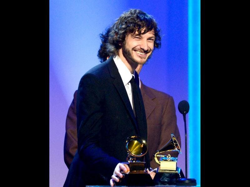 Australian artist Gotye won Record of the Year for Somebody That I Used to Know. (AFP Photo)