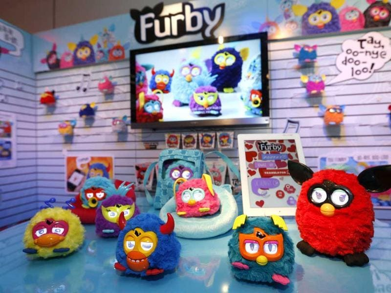 Furby party rockers creatures rock out in Hasbro's showroom at the American International Toy Fair in New York. AP/Jason DeCrow/Invision for Hasbro