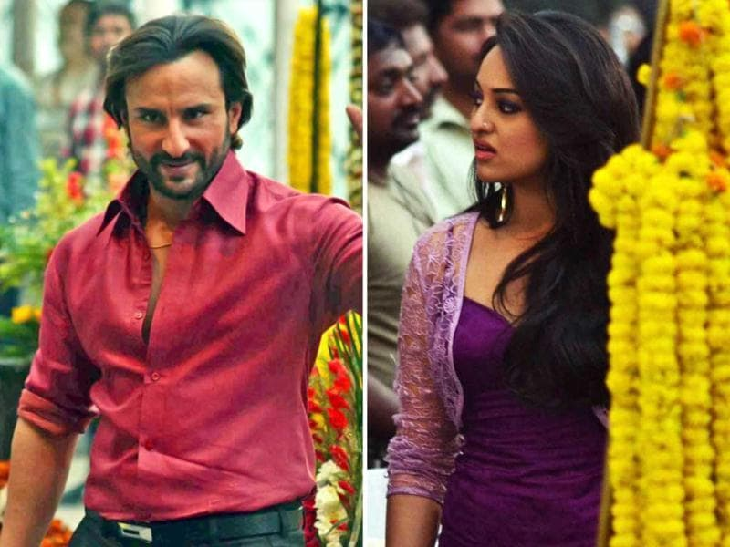 Actors Saif Ali Khan and Sonakshi Sinha were recently spotted shooting for their film Bullet Raja in Kolkata. Take a look.
