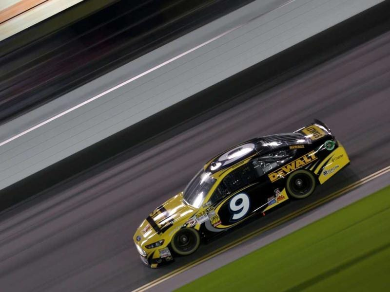Marcos Ambrose, driver of the #9 Stanley Ford, during practice for the NASCAR Sprint Cup Series Sprint Unlimited at Daytona International Speedway in Daytona Beach, Florida. (AFP Photo)