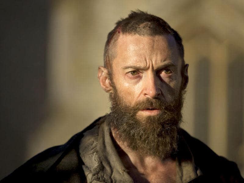 Hugh Jackman has been nominated for the Oscar for his brilliant performance as the lean and vengeful Jean Valjean in Les Miserables.