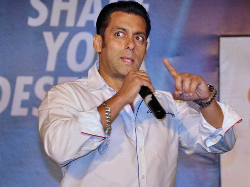 Film Actor Salman Khan at a function in Noida on Friday. (PTI Photo)