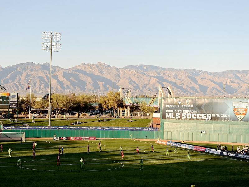 General view of the field during the game between the Seattle Sounders and Real Salt Lake in the FC Tucson Desert Diamond Cup at Kino Sports Complex in Tucson, Arizona. AFP/Jennifer Stewart/Getty Images