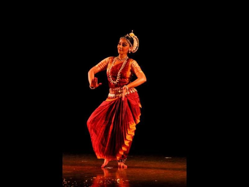 Young Odissi Dancer Ayona Bhaduri - disciple of Geeta Chandaran.