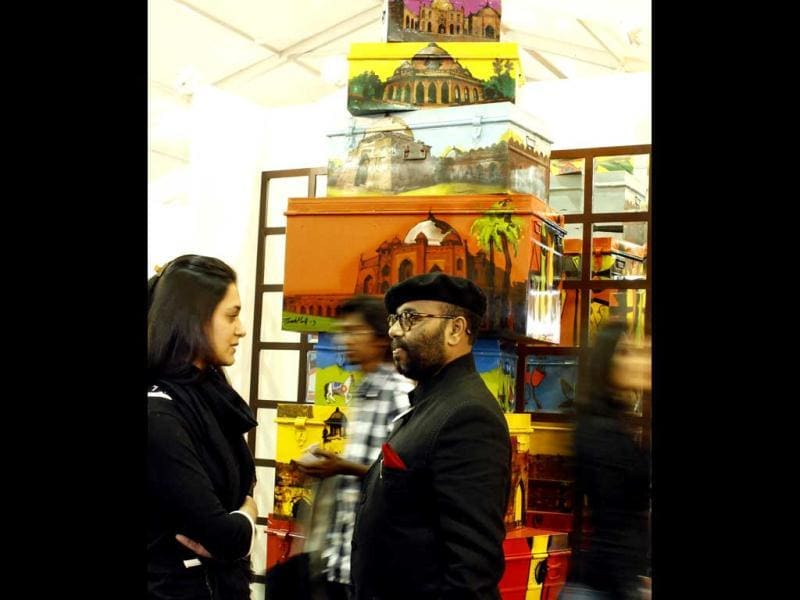 Paresh Maity at the India Art Fair.