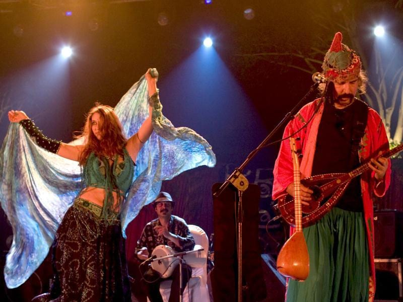 Baba Zula performing at the Amarrass Desert Music Festival