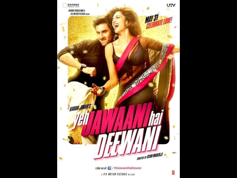 Here's the first look of Yeh Jawaani Hai Deewani starring Ranbir Kapoor and Deepika Padukone. The chemistry is very much working for the two. The poster looks quite vibrant.