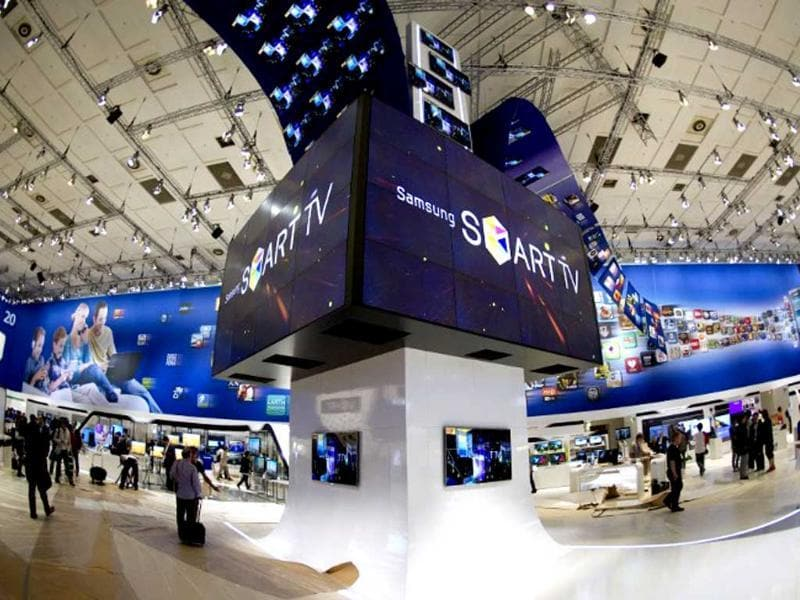 Smart TV is the main message at Samsung's booth at the 51st edition of the