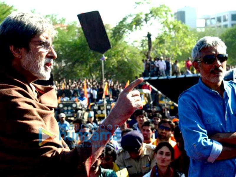 Amitabh Bachchan is seen in this picture alongwith Prakash Jha.