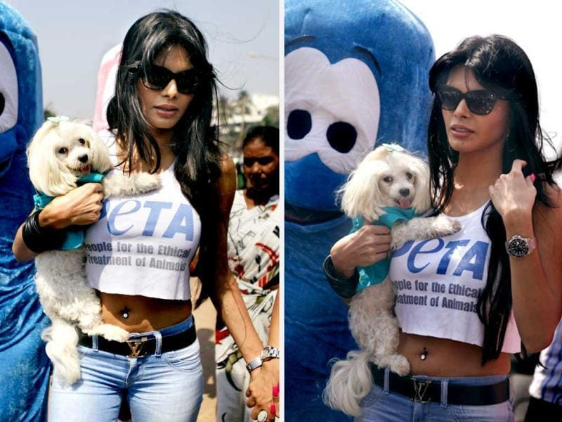 Bollywood actor Sherlyn Chopra displayed her wild love on Tuesday in Mumbai. Take a look at her pictures.