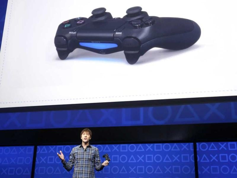 PlayStation 4's lead system architect Mark Cerny speaks during the unveiling of the PlayStation 4 launch event in New York. Reuters/Brendan McDermid