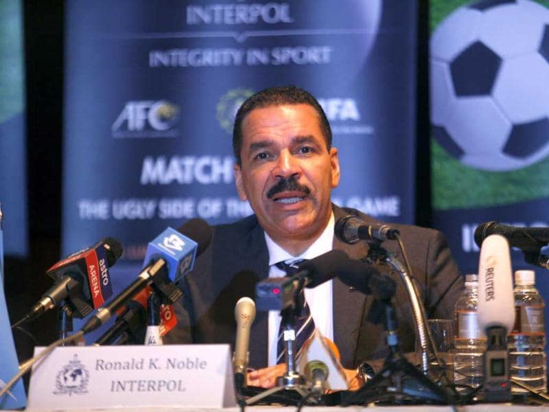 Secretary general of Interpol Ronald Noble speaks to the media during the Match Fixing: The Ugly Side of the Beautiful Game conference co-hosted by Interpol and FIFA, in Kuala Lumpur. Reuters/Samsul Said