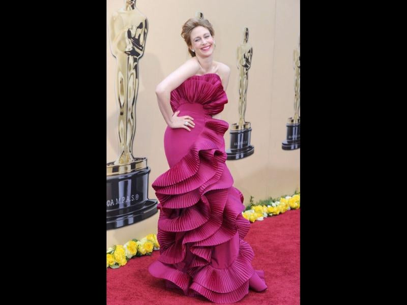Nominee for Actress in a Supporting Role Vera Farmiga poses at the 82nd Academy Awards at the Kodak Theater in Hollywood, California on March 07, 2010. AFP PHOTO