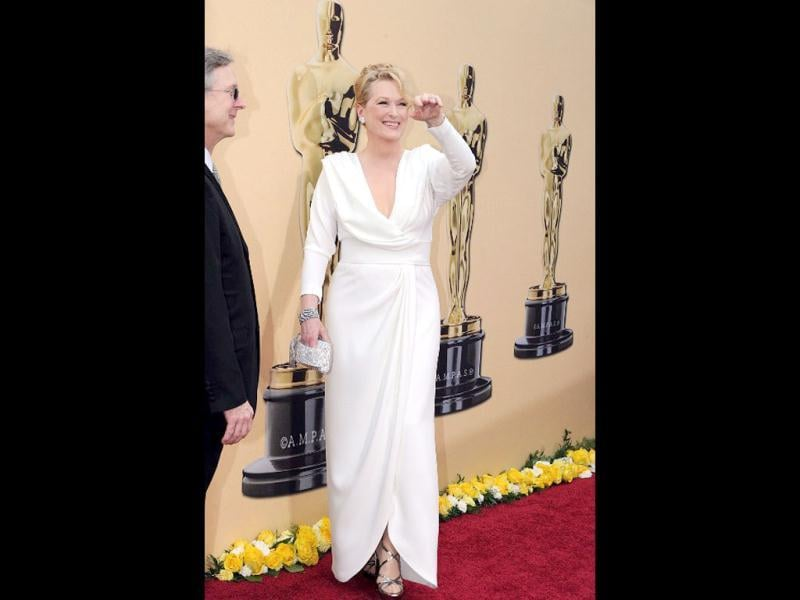 Nominee for Actress in a Leading Role Meryl Streep arrives at the 82nd Academy Awards at the Kodak Theater in Hollywood, California on March 07, 2010. AFP PHOTO