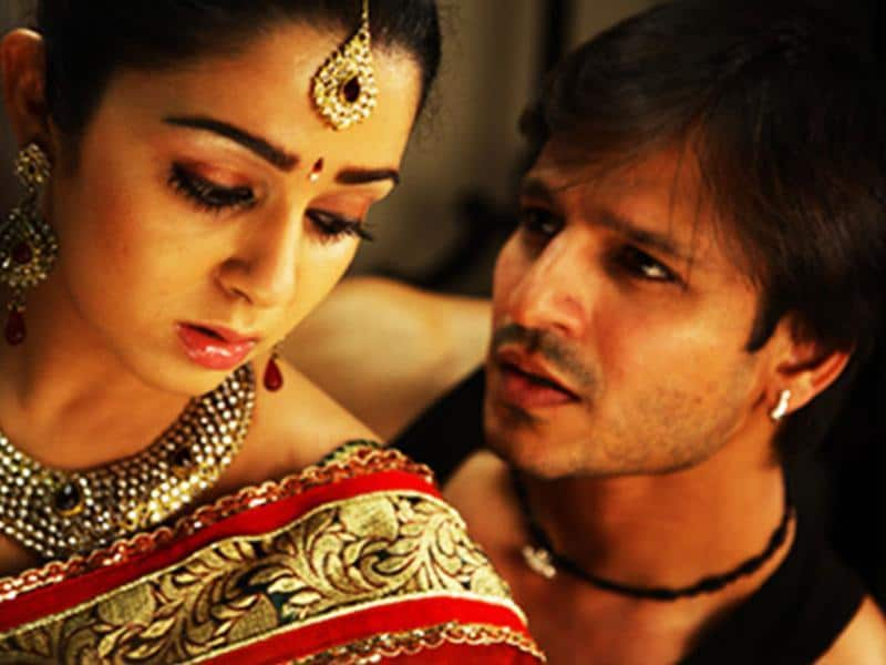 Vivek Oberoi and Charmee Kaur in a still from Zila Ghaziabad that releases today.
