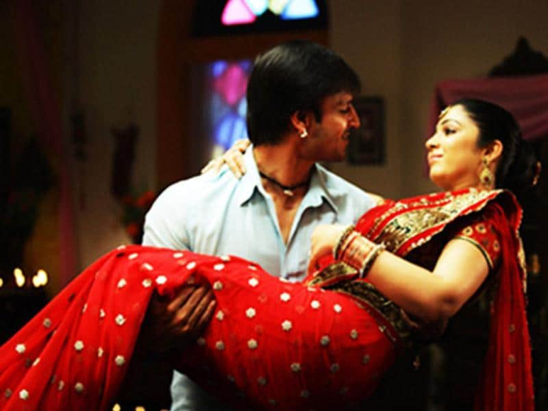 Vivek Obeoi, Charmee Kaur in a still from the movie.