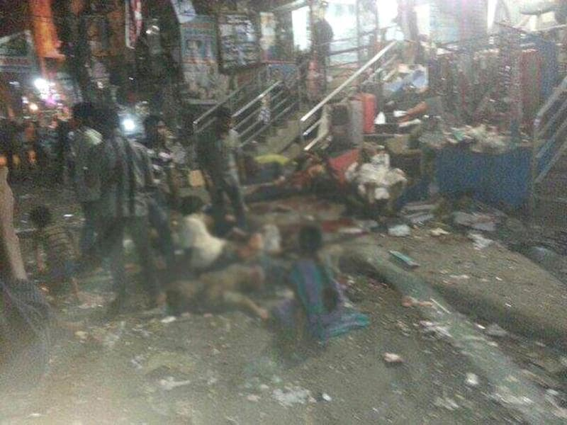 Serial explosions killed several and injured many in Hyderabad. Photo courtesy: Twitter @pravenbg