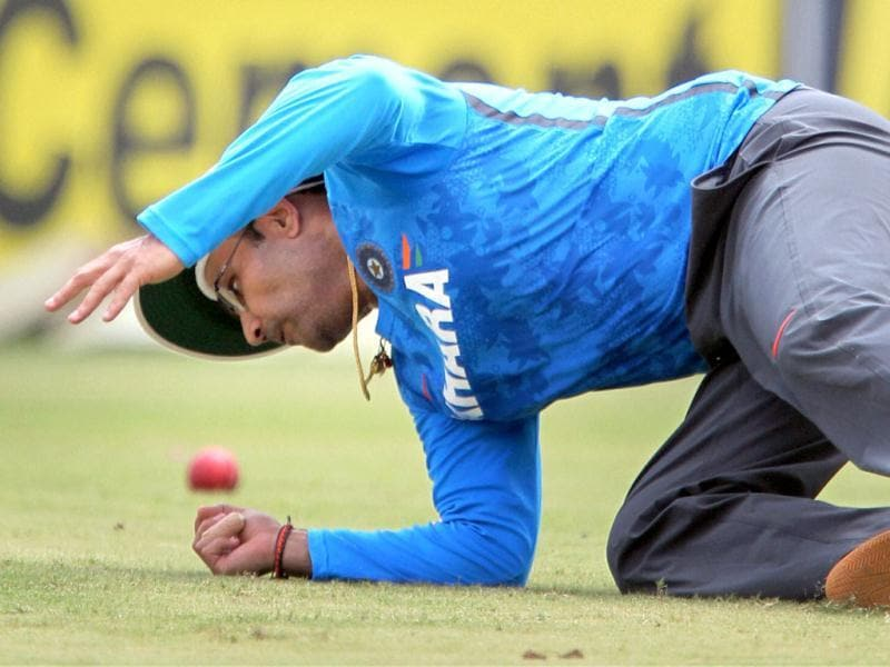 Virendra Sehwag during a practice session ahead of the first Test match against Australia, in Chennai. PTI photo
