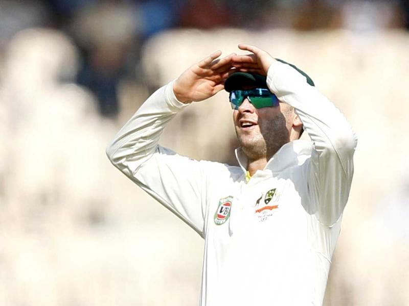 Australian captain Michael Clarke during second day of Test cricket match between India and Australia at MA Chidambaram Stadium, in Chennai, India. (HT Photo/Santosh Harhare)