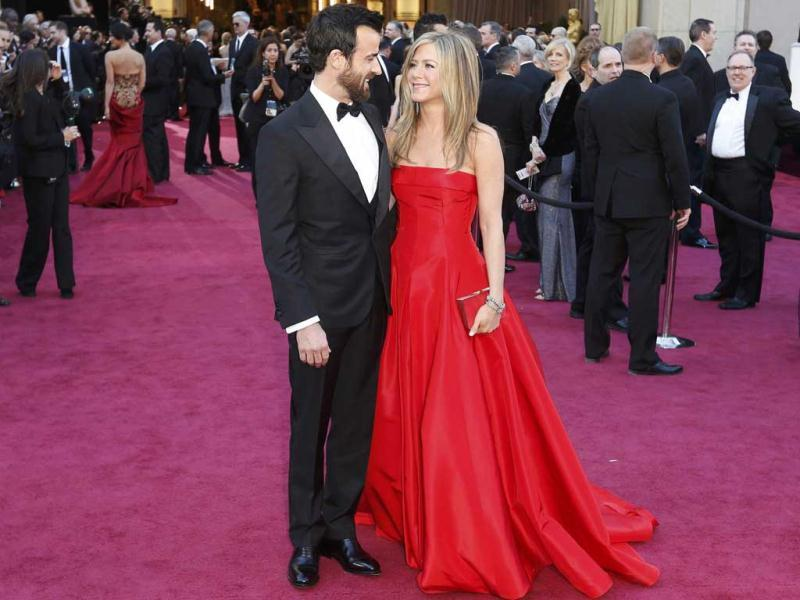 Jennifer Aniston and Justin Theroux arrive at the 85th Academy Awards in Hollywood, California February 24, 2013. Reuters Photo