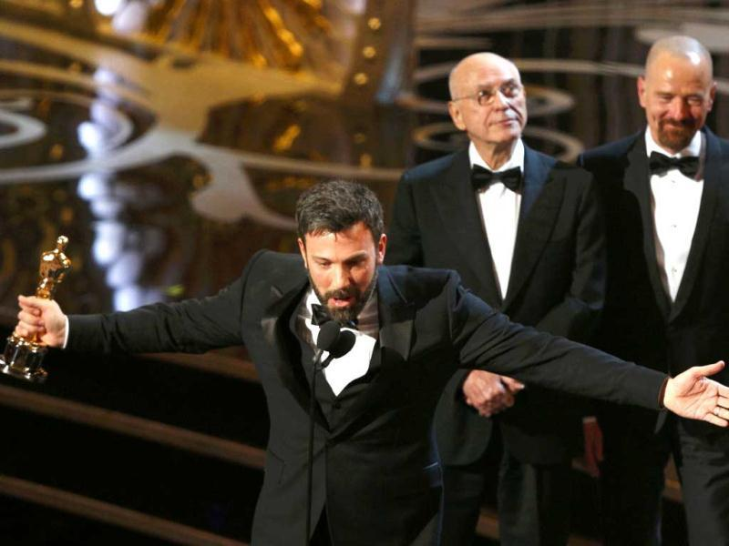 Director and producer Ben Affleck accepts the award for best motion picture for Argo at the 85th Academy Awards in Hollywood, California. (Reuters)