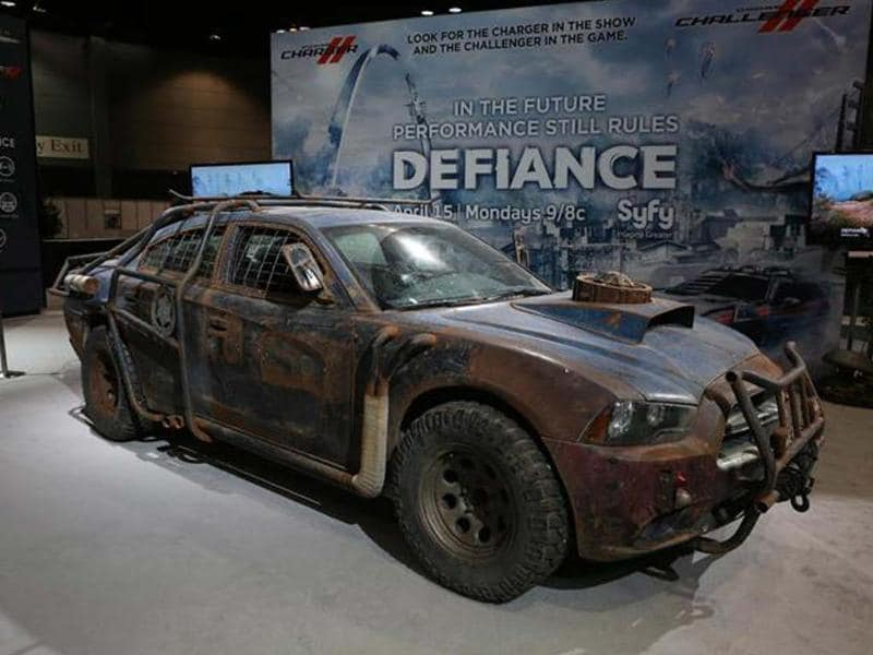This MAd Max style Dodge Charger was built for the forthcoming sci-fi TV series Defiance