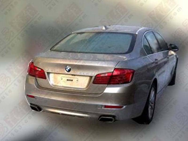 BMW 5-series facelift undisguised spy pics