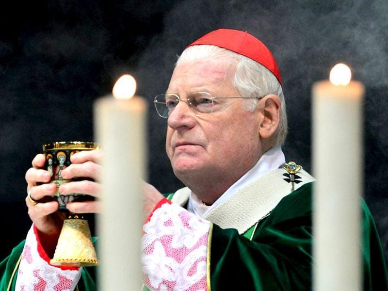 Cardinal Angelo Scola in Milan's Duomo cathedral. (AFP)