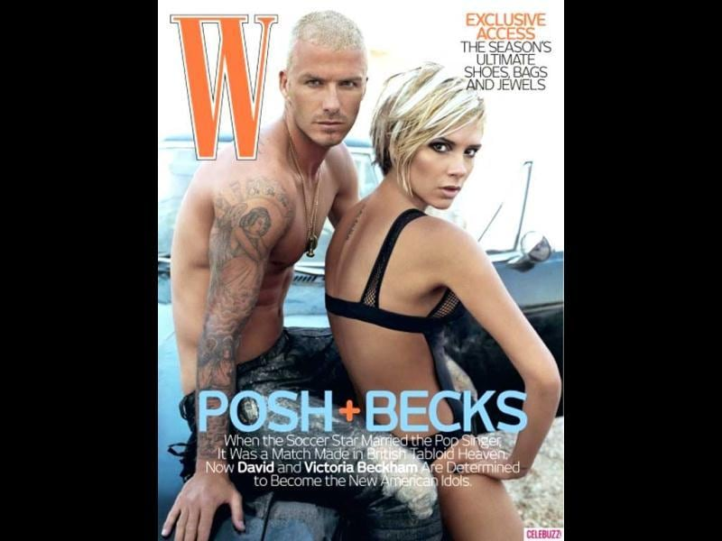 One of the strongest couple David and Victoria Beckham strip down for W Magazine (2007).