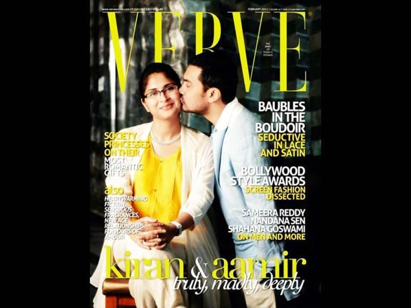 Aamir Khan and Kiran Rao in a very cute picture on Verve magazine (2011).