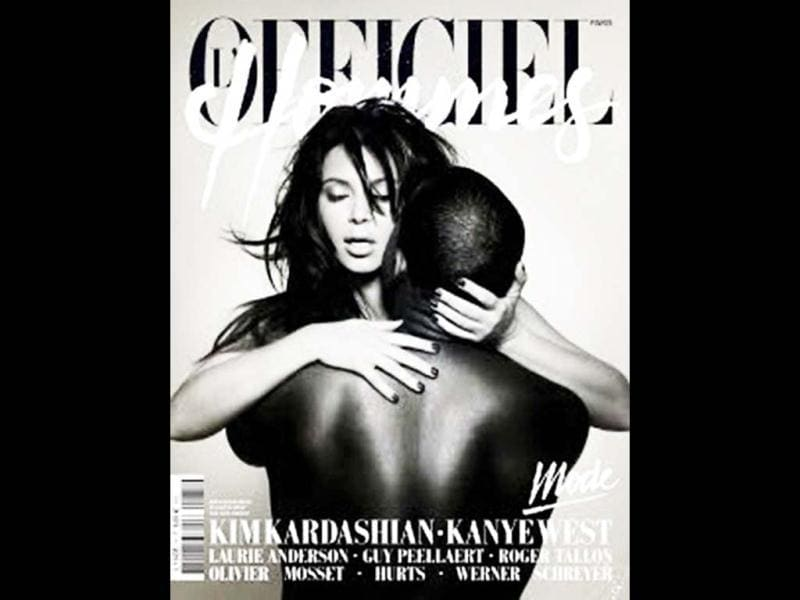 Recently, we saw Kim Kardashian and Kanye West in an intimate picture on the coverpage of L'Officiel Hommes. The image shows their love for eachother. As this image has a very strong meaning to it, we bring you some of the similar iconic covers over the years.
