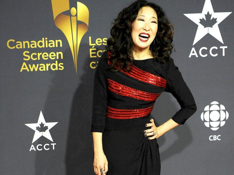 Actress Sandra Oh arrives for the Canadian Screen Awards in Toronto. (Reuters)