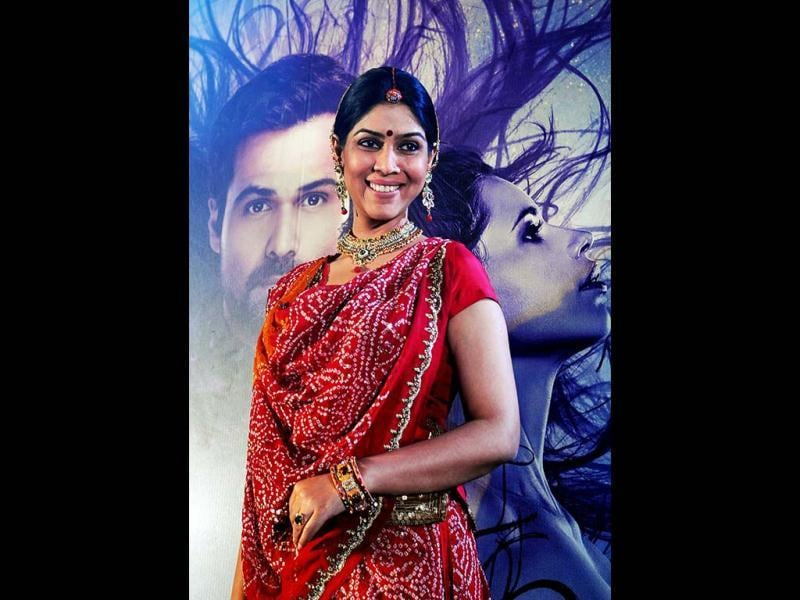 Television actress Sakshi Tanwar poses during the Life OK launch of the new horror series Ek Thhi Naayaka produced by Ekta Kapoor in Mumbai on March 4, 2013. (AFP PHOTO)