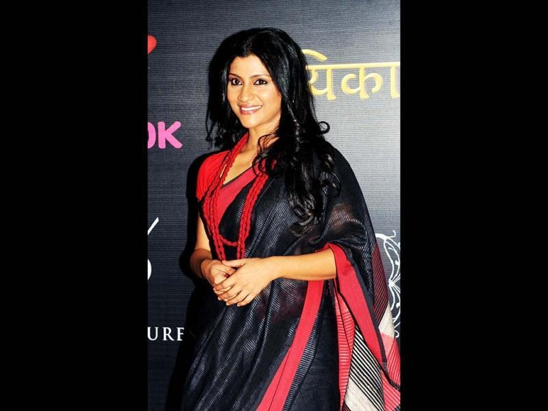 Konkona Sen Sharma poses during the Life OK launch of the new horror series Ek Thhi Naayaka produced by Ekta Kapoor and the upcoming Hindi horror film promotion Ek Thi Dayan on March 4, 2013. Konkana also features in Ekta's upcoming film Ek Thi Daayan. (AFP PHOTO)