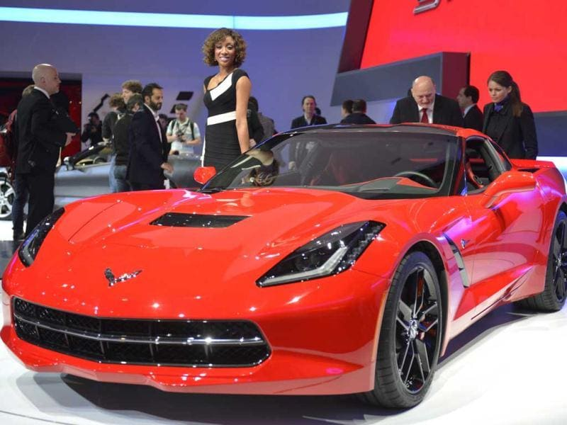 The new Chevrolet Corvette Stingray is displayed in World premiere at the American carmaker's booth on the press day of the Geneva car Show in Geneva. AFP photo
