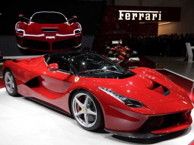The new LaFerrari hybrid car is pictured on the Ferrari stand during the first media day of the 83rd Geneva Car Show at the Palexpo Arena in Geneva. Reuters photo