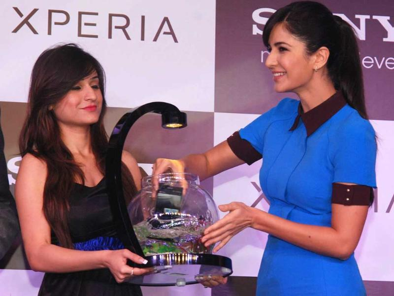 Katrina Kaif Brand Ambassdar Sony launches Xperia Z smart phone in India. Photo: UNI