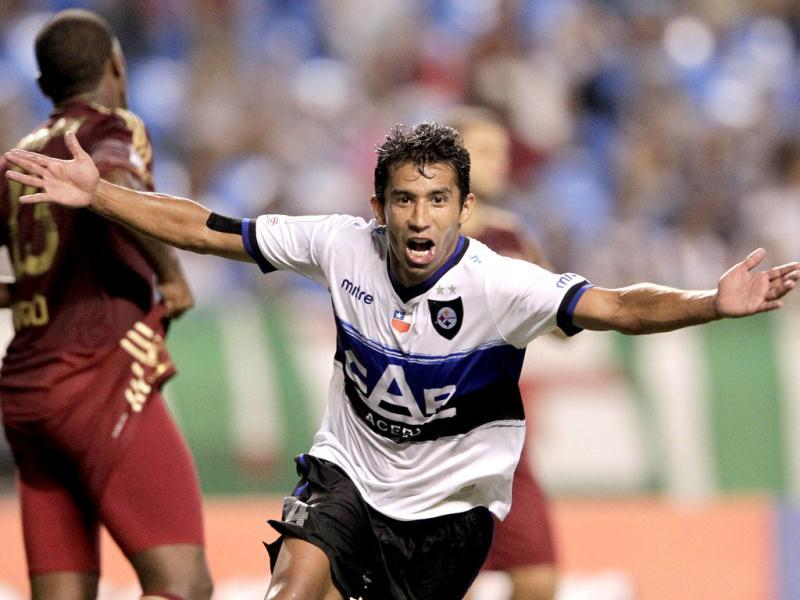 Nunez Chile's Huachipato's Nicolas Nunez celebrates after scoring against Brazil's Fluminense's during a Copa Libertadores soccer match in Rio de Janeiro, Brazil. (AP)