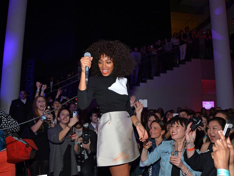 Singer Solange Knowles performs at The Armory Party at MOMA in New York City. (AFP)